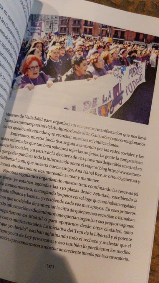 """Presentación del libro """"El tren de la libertad, las mujeres decidimos"""""""