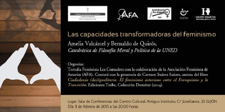 Las capacidades transformadoras del feminismo, por Amelia Valcárcel y Bernaldo de Quirós