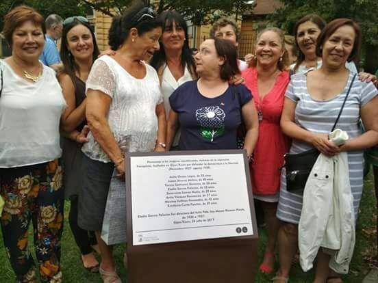 Homenaje a las republicanas fusiladas en Gijon por el franquismo