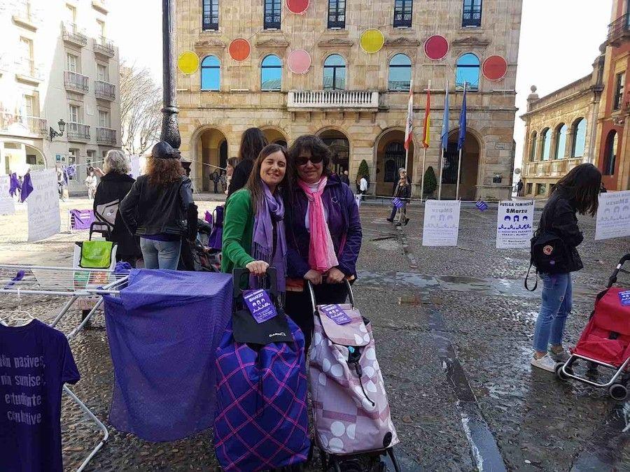 tendales huelga 8m Belladona Preparando la huelga feminista #8M